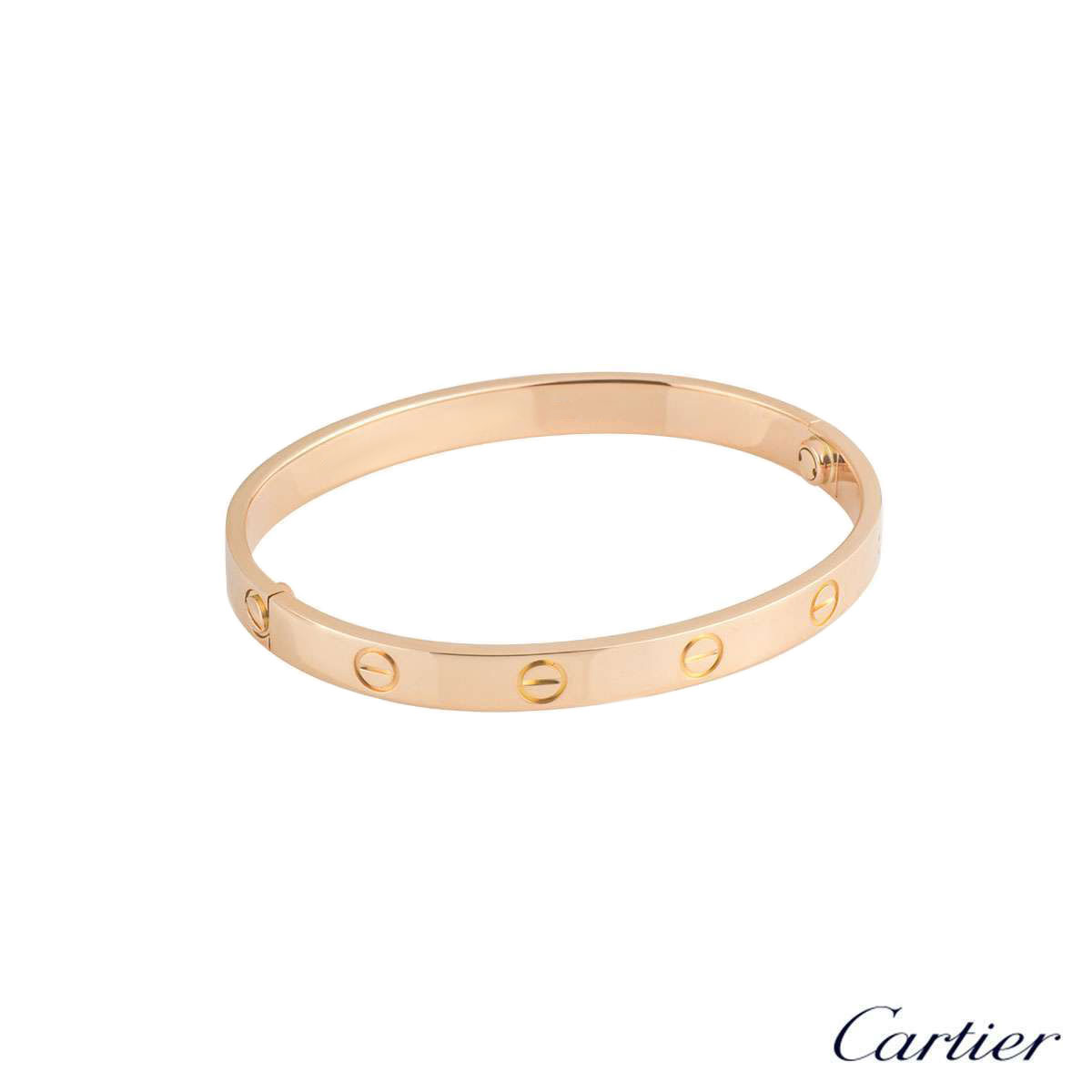 Cartier Rose Gold Plain Love Bracelet Size 16 B6035616